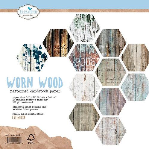 13 Blatt Designpapier EC Worn Wood  30,5x30,5m