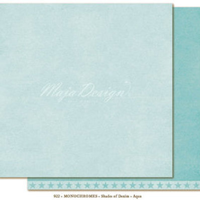 Uni Maja Design Papier -Monochromes - Shades of Denim - Aqua
