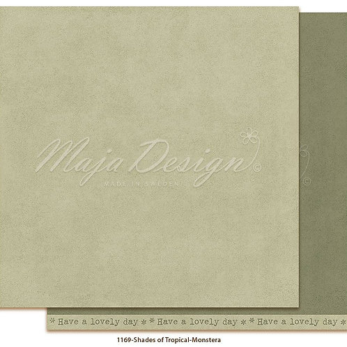 Uni Maja Design Papier -  Mono - Tropical - Monstera