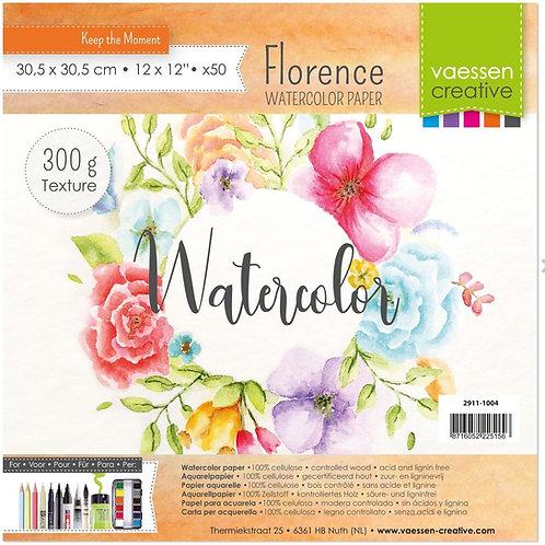 Florence  Aquarellpapier Texture 300g 30,5x30,5cm