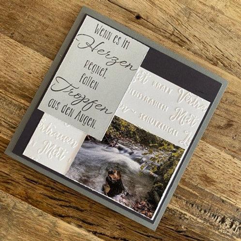 Trauerkarte mit Fotos vo hie! Wenn es im Herzen