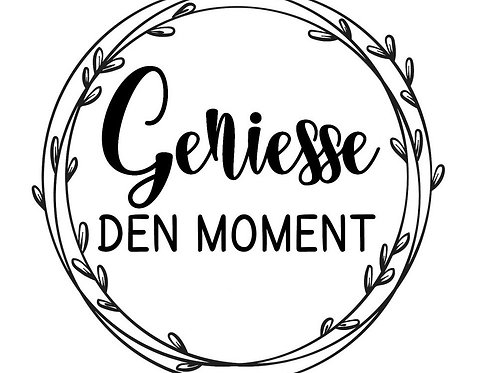 """Holzstempel by Isa """"Geniesse den Moment"""" 4x4cm"""
