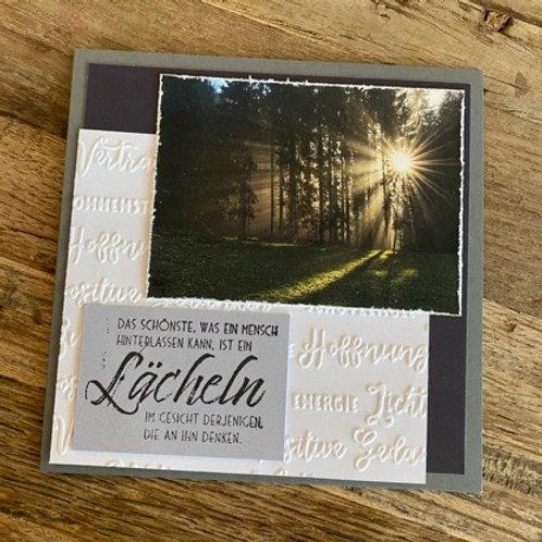 Kopie von Trauerkarte mit Fotos vo hie! Das schönste, was ein Mensch (Wald)2