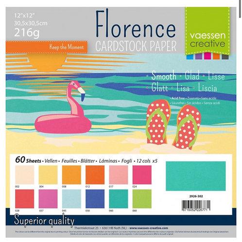 Designpapier uni 60 Blatt 30,5 x 30,5cm Sommer