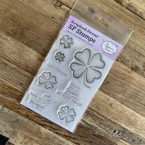 SF Stamps Kleeblätter Manchmal sagt das Glück