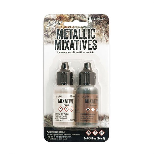 Tim Holtz Alcohol Inks Metallic Pearl & Copper