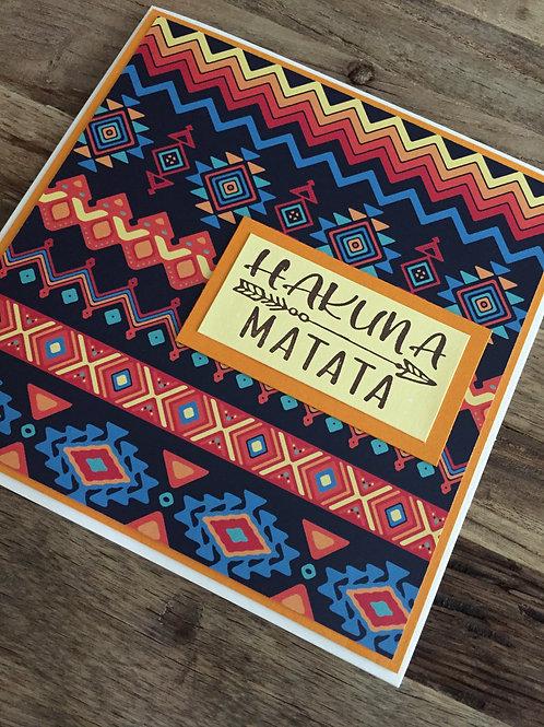 Karte Hakuna Matata (alles in bester Ordnung)
