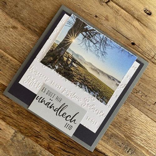 Trauerkarte mit Fotos vo hie! Es duet mir unändlich Leid