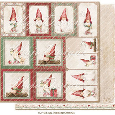 Maja Design Papier - Traditional Christmas - Die cuts