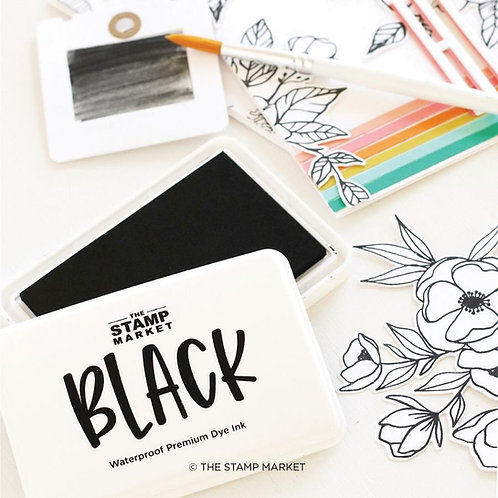 Stempelkissen von The Stamp Market - Black Wasserfest