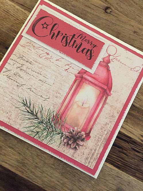 Weihnachtskarte design bei Isa, Merry Christmas, Laterne