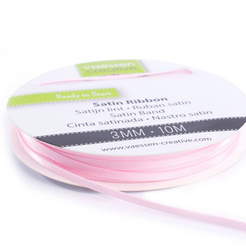 Satinband 3mm rosa