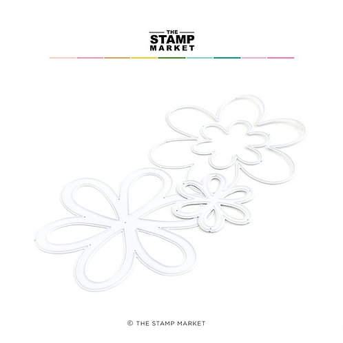 Stanzform Basic Flowers Shaker von The Stamp Market