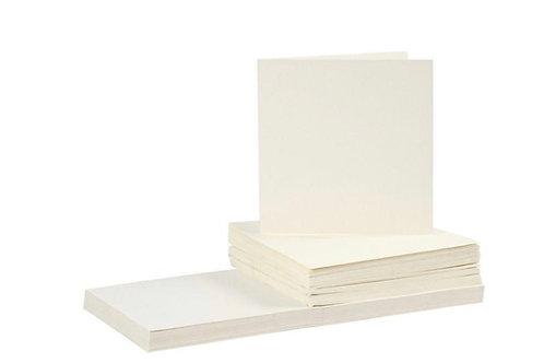 50 Klapp Karten 15x15 cm und 50 Kuvert creme