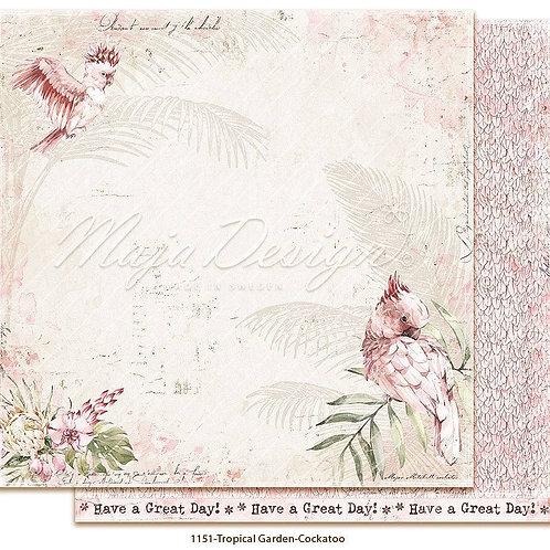 Maja Design Papier - Tropical Garden - Cockatoo
