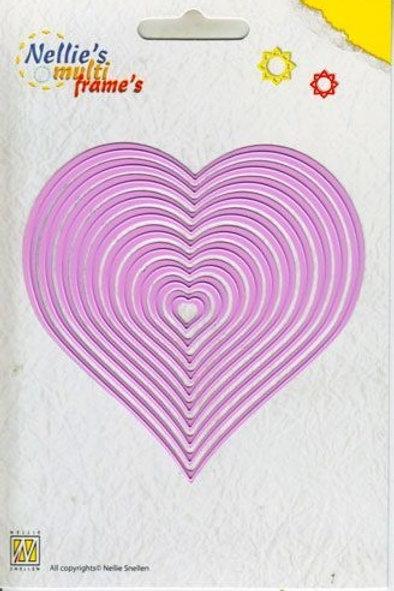 Stanzformen Herzen (10teilig)