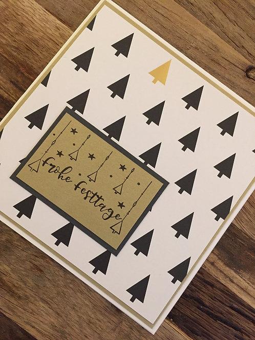 Weihnachtskarte design bei Isa, Frohe Fesstage,Gold