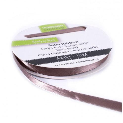 Satinband 6mm Milchschokolade