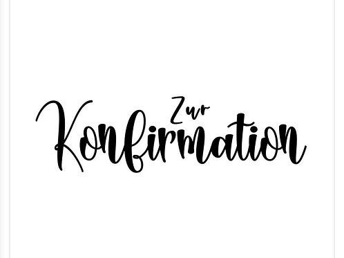 "Holzstempel by Isa ""Zur Konfirmation"" 7x2"
