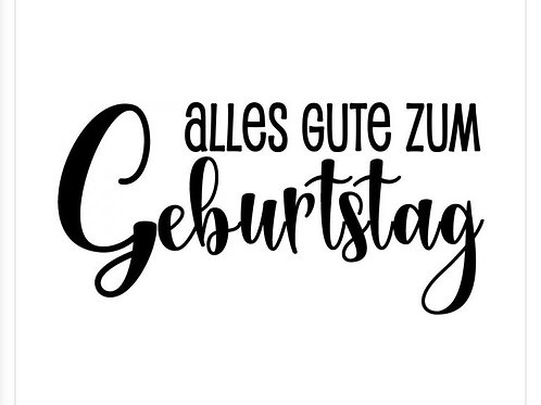 """Holzstempel by Isa """"Alles gute zum Geburtstag"""" 6x3cm"""