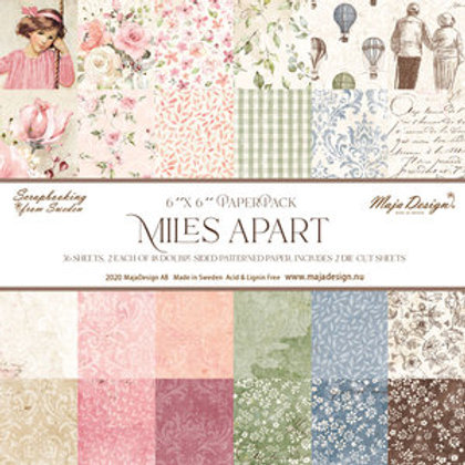 """Maja Design Papier Block 6""""x6"""" Miles Apart 36 Blatt"""