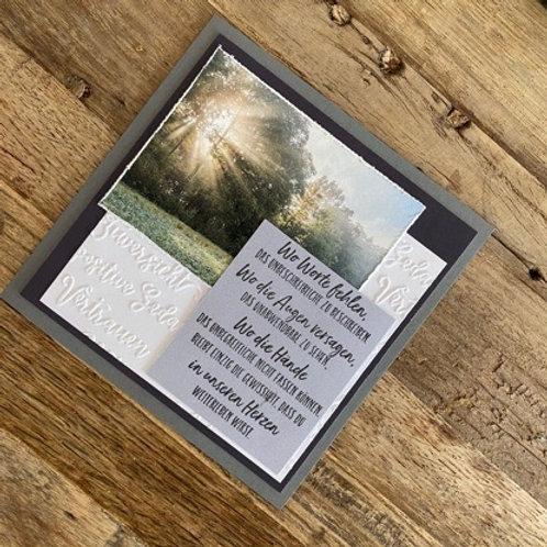 Trauerkarte mit Fotos vo hie! Wo Worte fehlen
