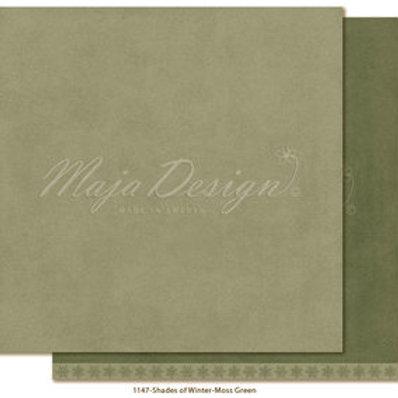 Uni Maja Design Papier -   Monochromes - Shades of Winter - Moss green