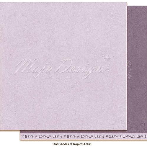 Uni Maja Design Papier - Mono - Tropical - Lotus