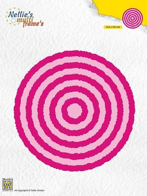 Stanzformen Kreis mit Büttenrand (10 Teilig)