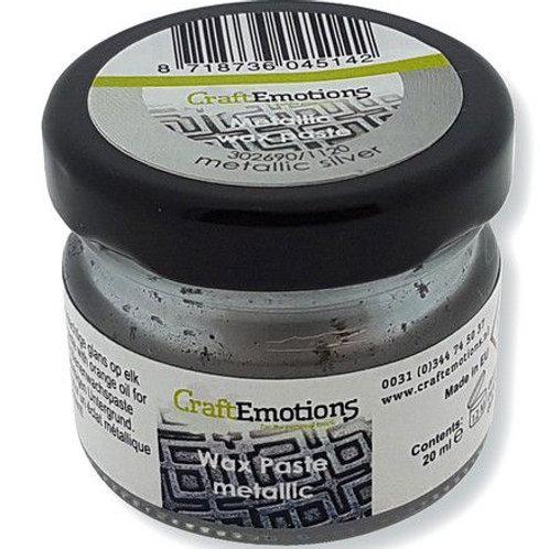 CraftEmotions Wax Paste metallic- silber 20 ml