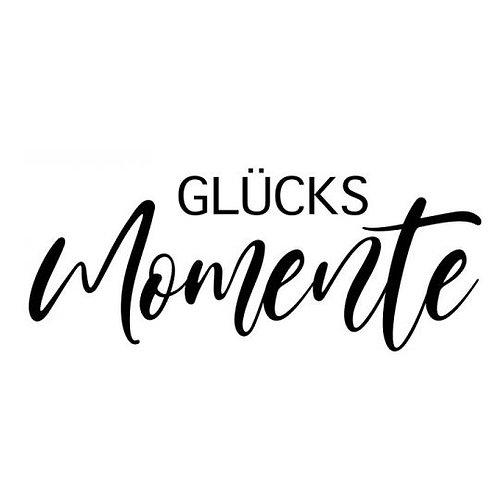 """Stempel by Isa """"Glücks Momente"""" 7x3cm"""