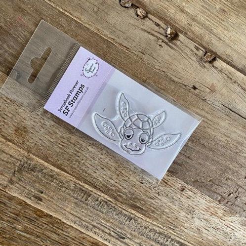 SF Stamps Schwimmende Schildkröte