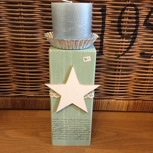 Kerzenständer, Stern/seegrün