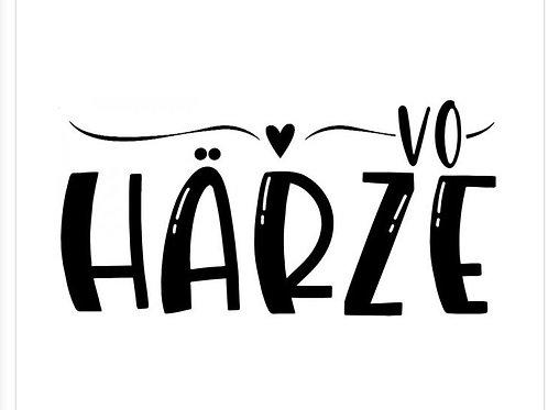 "Holzstempel by Isa ""Vo Härze"" 4x 2cm"