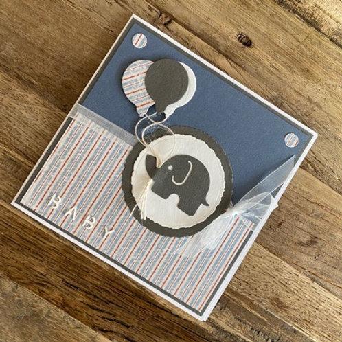Karte design by ste`s: Baby Blau