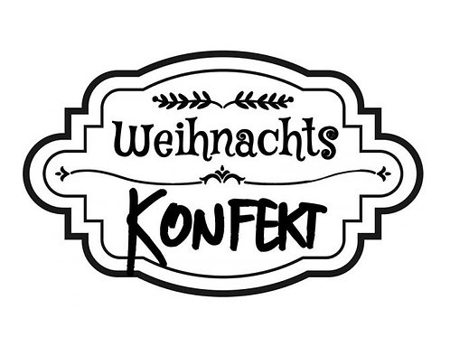 """Holzstempel Design by Susann """"Weihnachts Konfekt"""" 6 x 4 c"""