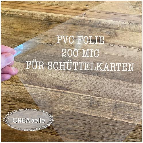 PVC Folie A4 für Schüttelkarten