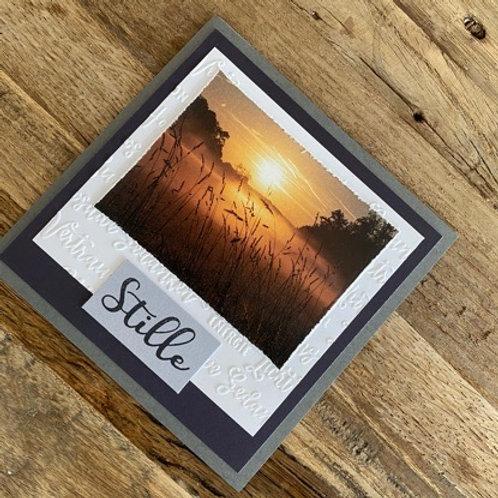 Trauerkarte mit Fotos vo hie! Stille