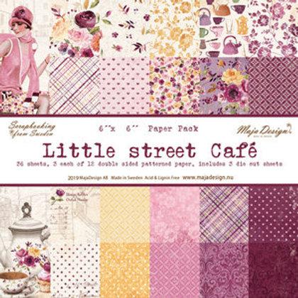 """Maja Design Papier Block 6""""x6"""" Little street Café  36 Blatt"""