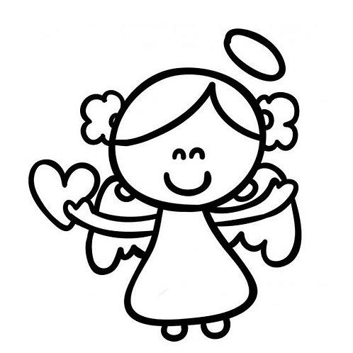 Stempel Engel mit Herz