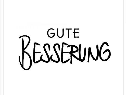"""Holzstempel Design by Susann """"Gute Besserung 2.0"""