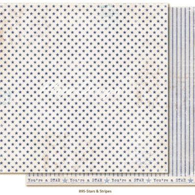 Maja Design Papier -  Denim & Friends Stars & Stripes