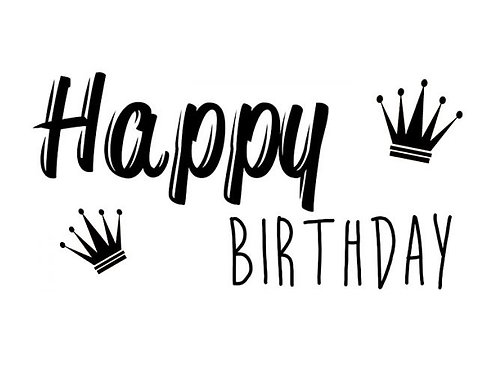 "Holzstempel Design by Susann ""Happy Birthday"" 8x4 cm"