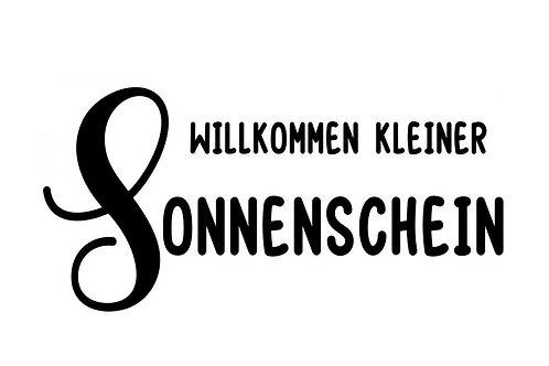 """Holzstempel by Isa """"Willkommen kleiner Sonnenschein"""" 6x3 cm"""