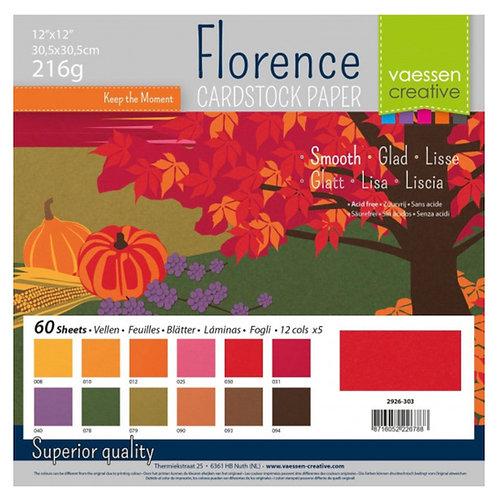 Designpapier uni 60 Blatt 30,5 x 30,5cm Herbst