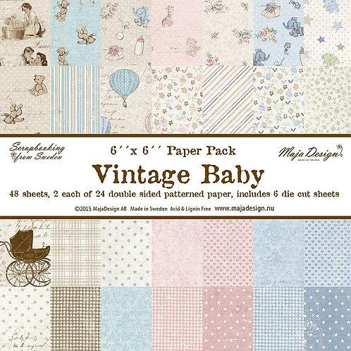 "Vintage Baby - 6x6"" Collection Pack, 48 Blatt"