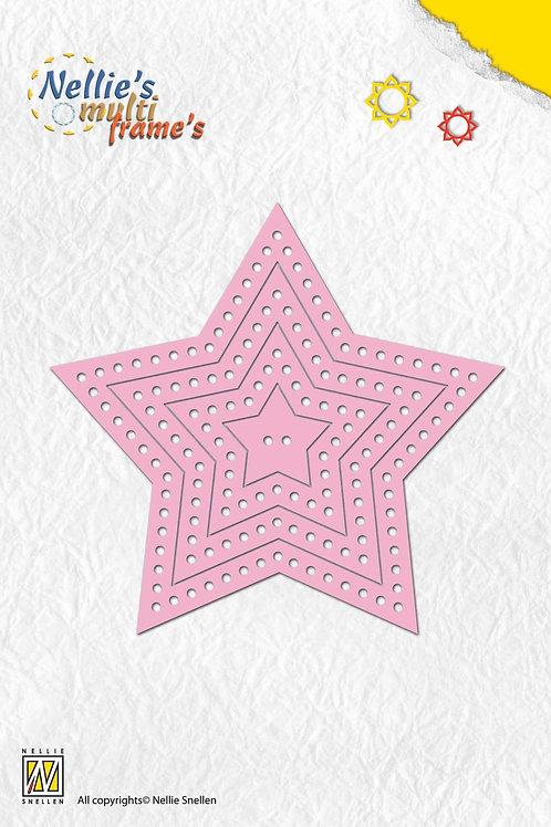 Stanzformen Sterne mit Punkten (7teilig)