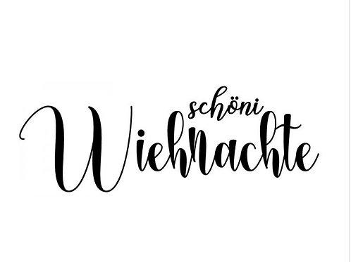 """Holzstempel by Isa """"Schöni Wiehnachte"""" 8x3cm"""