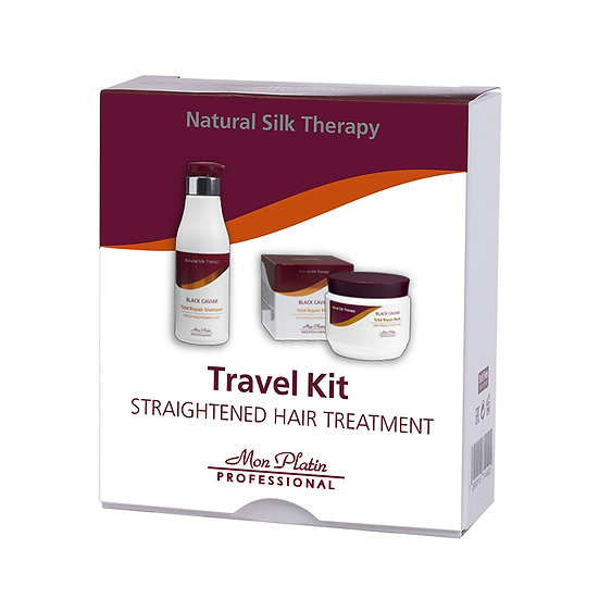 Travel kit for straightened hair treatment shampoo 50 ml and mask 50ml