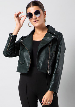 Vegan Crop Jacket